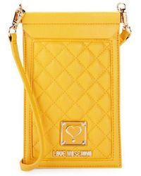 Love Moschino - Quilted Cell Phone Case - Lyst