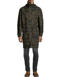 DIESEL - Camouflage Cotton Overcoat - Lyst