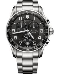 Victorinox - Mens Classic Xls Stainless Steel Chronograph Watch - Lyst