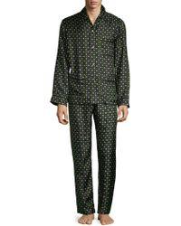 Valentino - Two-piece Graphic Silk Pajama Set - Lyst