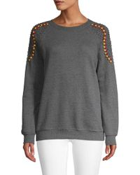 Hemant & Nandita - Embellished Shoulders Cotton Sweatshirt - Lyst