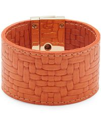 CC SKYE - Embossed-leather Wrap Bracelet - Lyst