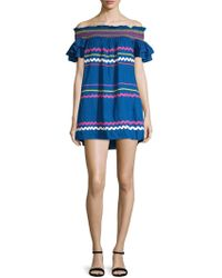 Red Carter - Marilyn Embroidered Ruffled Dress - Lyst