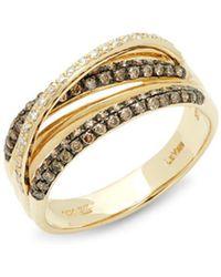 Le Vian - Gladiator Weave Chocolate Diamond, Vanilla Diamond And 14k Honey Gold Ring, 0.90 Tcw - Lyst