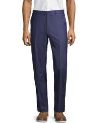 Canali - Flat-front Wool Pants - Lyst