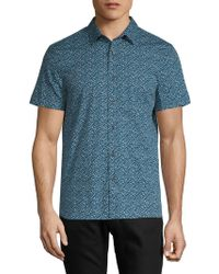 Perry Ellis - Slim-fit Printed Button-down Shirt - Lyst