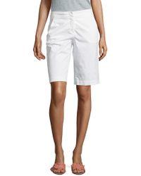 Peserico - Stretch-cotton Bermuda Shorts - Lyst