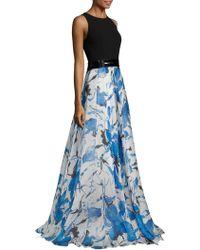 Carmen Marc Valvo - Floral Organza Gown - Lyst