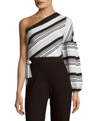 Lucca Couture - Asymmetrical Cotton Top - Lyst