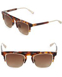Linda Farrow - Kris Vanassche X Linda Farrow Tortoiseshell 49mm Professor Square Sunglasses - Lyst