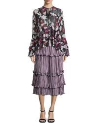 Romance Was Born - Queen Of The Night Blossoming Pleated Skirt - Lyst