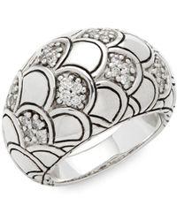 John Hardy - Legends Naga Diamond & Sterling Silver Ring - Lyst