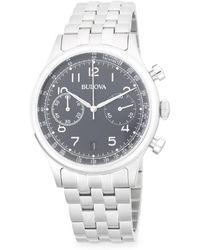 Bulova - Classic Chronograph Bracelet Watch - Lyst