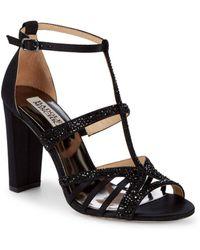 Badgley Mischka - Hewitt Embellished T-strap Sandals - Lyst