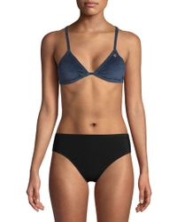 Juicy Couture - Velour Triangle Bikini Top - Lyst