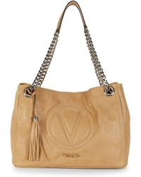Valentino By Mario Valentino - Versa Chain Leather Shoulder Bag - Lyst