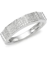 Effy - Sterling Silver & Diamond Band Ring - Lyst