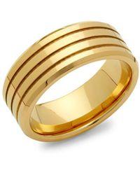 Perepaix - Goldtone Tungsten Ring - Lyst