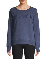 Tommy Hilfiger - Logo Raglan-sleeve Sweater - Lyst