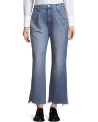 3x1 - Shelter Pleated Cropped Jeans - Lyst