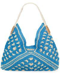 Saks Fifth Avenue - Crocheted Straw Hobo - Lyst