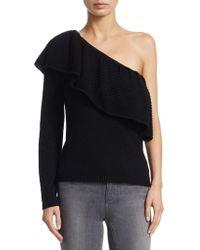 Ella Moss - One-shoulder Knitted Jumper - Lyst