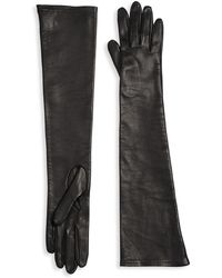 Saks Fifth Avenue - Long Silk-lined Leather Gloves - Lyst