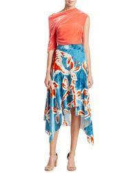 Peter Pilotto - Printed Velvet Skirt - Lyst