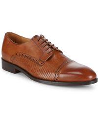 Saks Fifth Avenue - Leather Captoe Dress Shoe - Lyst