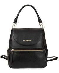 Karl Lagerfeld - Haesung Leather Backpack - Lyst