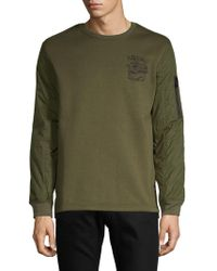 Buffalo David Bitton - Logo Crewneck Sweater - Lyst