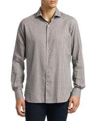 Loro Piana - New Alain Cotton Small Check Shirt - Lyst