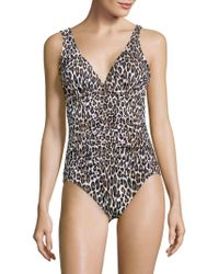 Tommy Bahama - Leopard-print One-piece Swimsuit - Lyst