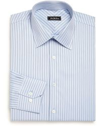 Saks Fifth Avenue - Regular-fit Striped Cotton Dress Shirt - Lyst