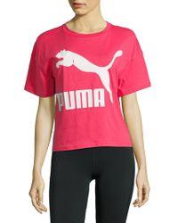 PUMA - Classics Logo Tee - Lyst