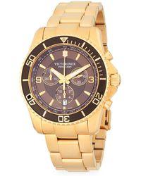 Victorinox - Stainless Steel Bracelet Watch - Lyst