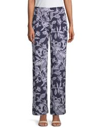 Laundry by Shelli Segal - Tropical-print Bootcut Trousers - Lyst