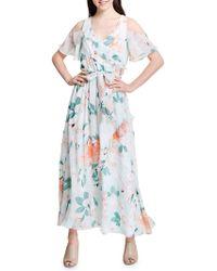 Calvin Klein - Cold Shoulder Ruffle Dress - Lyst
