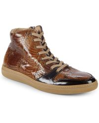 Mezlan - Bacoli Leather Trainers - Lyst