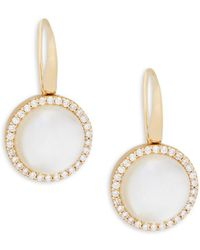 Roberto Coin - Mother-of-pearl, Crystal Doublet And 18k Rose Gold Pendant Necklace - Lyst