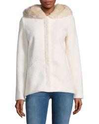 Laundry by Shelli Segal - Faux Fur Hooded Coat - Lyst