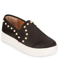 Steve Madden - Glacier Pearl Detail Trainers - Lyst