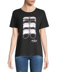 Karl Lagerfeld - Stretch Cotton Sunglasses-print Tee - Lyst