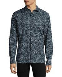 J.Lindeberg - Daniel Season-print Button-down Shirt - Lyst