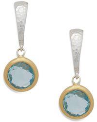 Gurhan - Blue Topaz Drop Earrings - Lyst