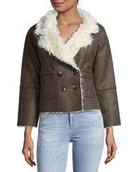 Raga - Elliot Faux Fur-trimmed Double-breasted Coat - Lyst