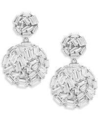 Saks Fifth Avenue - Crystal And Sterling Silver Ball Drop Earrings - Lyst