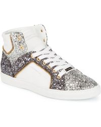 Alessandro Dell'acqua - Embellished High-top Leather Sneakers - Lyst