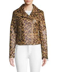 0e7749af6dc3 Joe's Jeans Kate Faux Fur Cheetah Print Bomber - Lyst