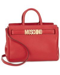 Moschino - Convertible Leather Satchel - Lyst